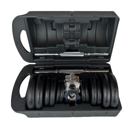 Kit de halteres com 17kg de anilhas 216