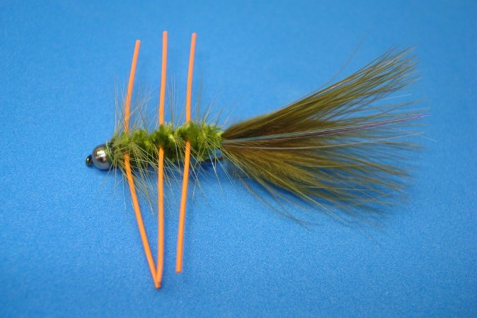 BEAD HEAD WOOLLY BUGGER RUBBER LEGS OLIVE