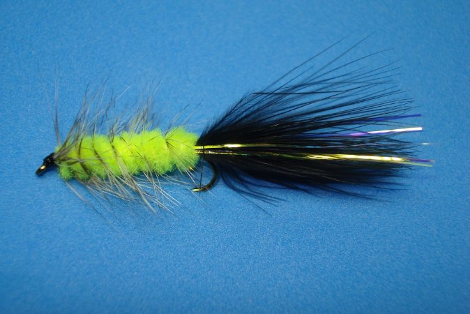 WOOLLY BUGGER BLACK AND CHARTREUSE