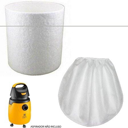 Kit Filtro Permanente + Touca Para Aspirador Electrolux Gt30n