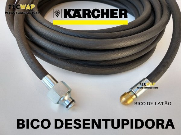Mangueira Desentupidora 20 Metros Para Limpeza de Tubulaçao - Karcher
