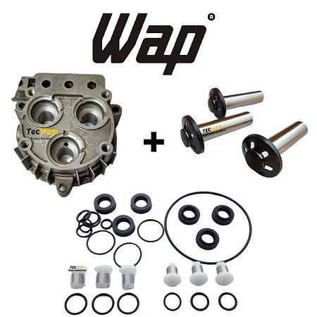 Kit Reparos com Valvulas + Kit Pistão Mini Wap + Carcaça dos Pistão - Montados