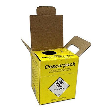 Coletor para Material Perfurocortante Descarpack - 1,5 litros - Papelão