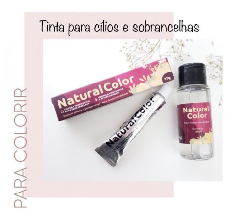 Kit de Tinta para Cílios Natural Color-Preta