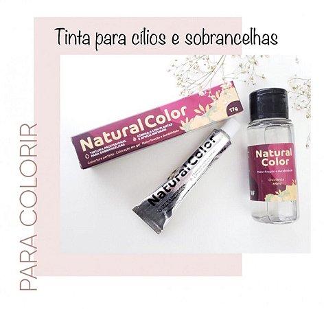 Kit de tinta para Sobrancelhas Natural Color - Chocolate