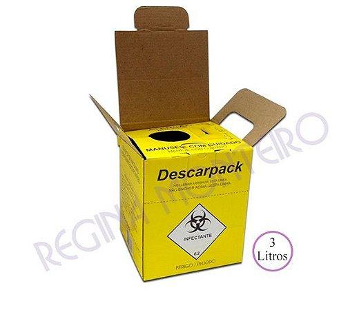 Coletor para Material Perfurocortante Descarpack - 3 litros - Papelão