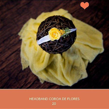 Heaband Coroa de Flores Amarelo
