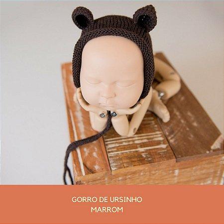 Gorro de Ursinho Marrom