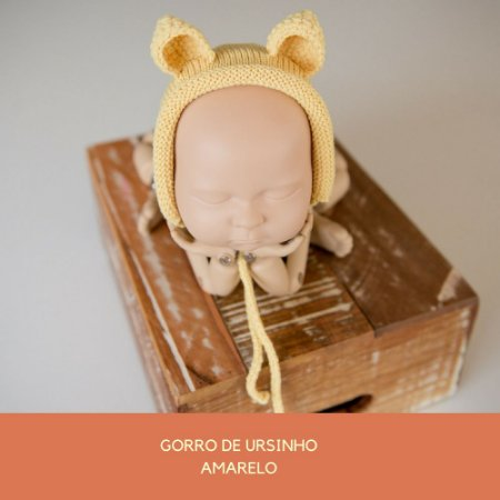 Gorro de Ursinho Amarelo