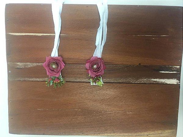 Headband Coroa de Flores Rosa