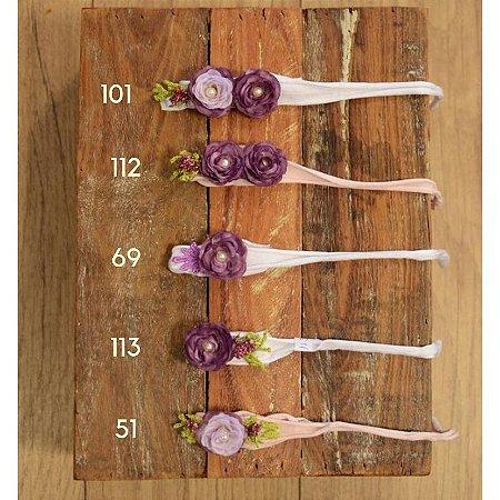 Headband Coroa de Flores Lilás