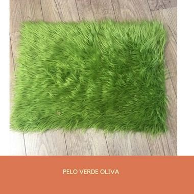 Pelo Alto (Pelúcia) Importado Verde Oliva