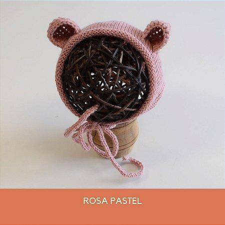 Gorro de Ursinho Rosa Pastel