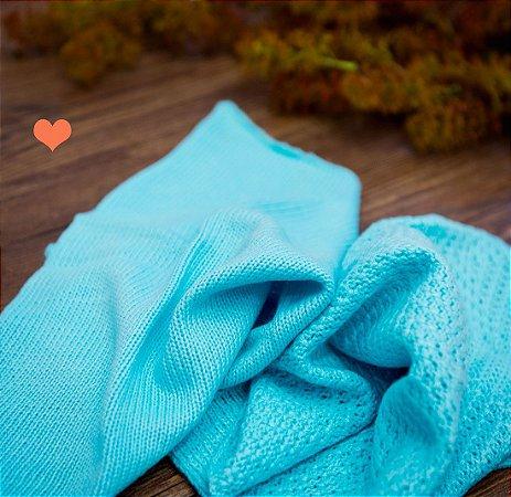 Par de Layer tricot agua marinha