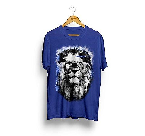 Camiseta Leão (azul) - Masculina
