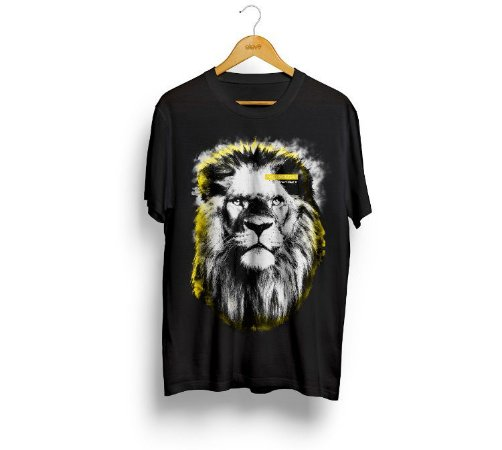 Camiseta Leão (preta) - Masculina