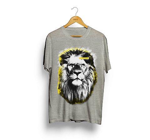 Camiseta Leão (Cinza Mescla) - Masculina