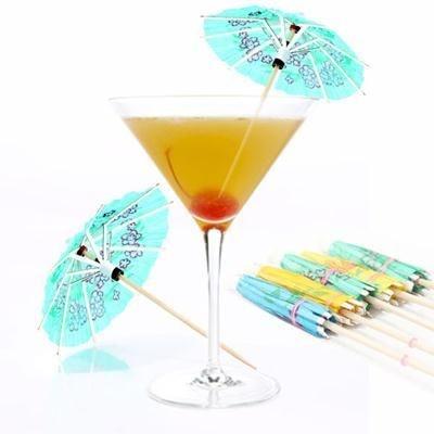 Enfeite para Drinks - Guarda Chuva com 12 unidades