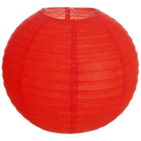 Luminária Japonesa Redonda Vermelha 40 cm