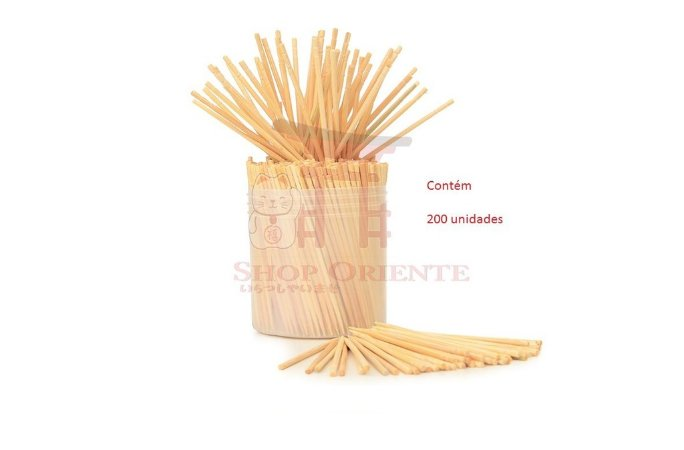 Palito de Bambu Decorado - 200 unid.