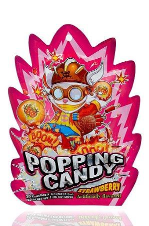 Bala que estala (Popping Candy) sabor Morango - 20 sachês de 1,5 g