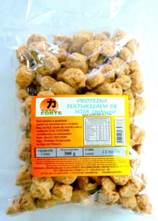 Proteína Texturizada de Soja (Pedaços) - 300g. (Não contém Glúten)