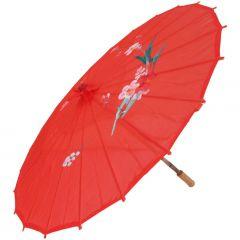 Sombrinha Oriental Pequena - Vermelho