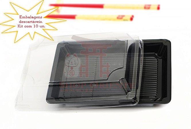 Embalagem Descartável para Sushi 18 cm x 12 cm (10 unidades)