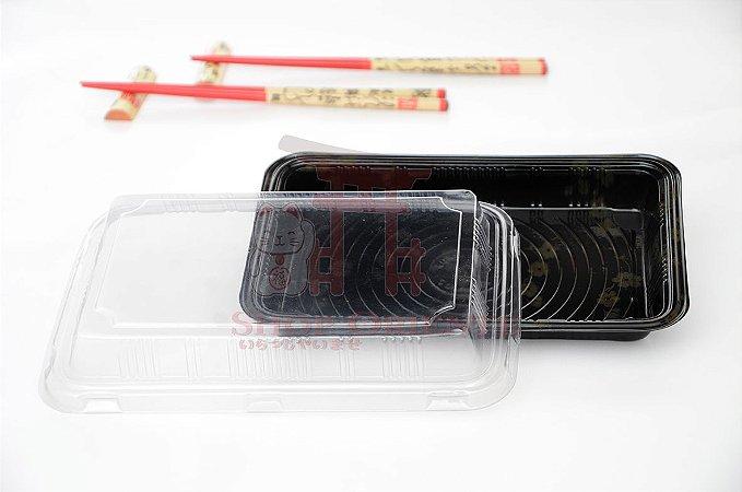 Embalagem Descartável para Sushi 18 cm x 10 cm (10 unidades)
