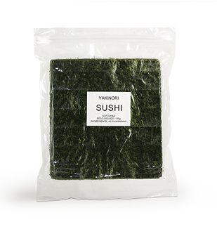 Nori - Alga Marinha para Sushi e Temaki com 50 folhas - Yakinori Sushi