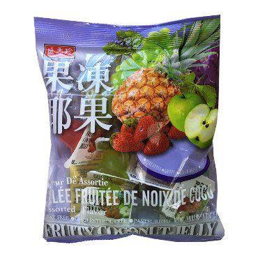 Mini Gelatina de Frutas com pedaços de coco - Triko Foods 280 g