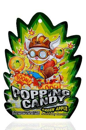 Bala que estala (Popping Candy) sabor Maçã Verde - 20 sachês de 1,5 g