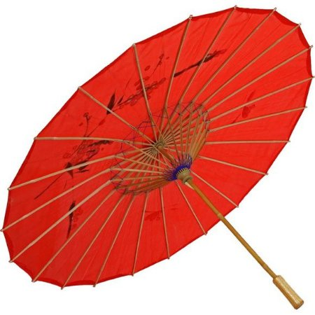 Sombrinha Oriental Grande - Vermelho
