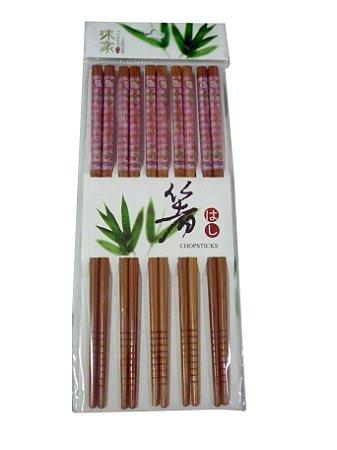 Hashi de Bambu Decorado HELLO KITTY com 5 pares