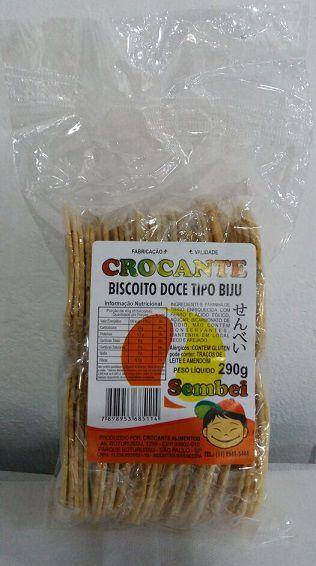 Biscoito Doce tipo Biju (Sembei) - Crocante 290 g