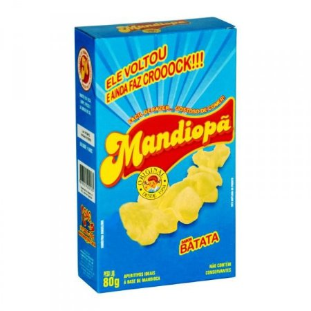 Mandiopã (Aperitivo de Mandioca) sabor Batata 80 g