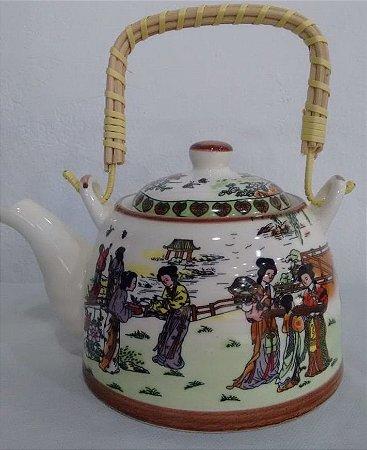 Chaleira de Porcelana Gueixas 0,5 litro