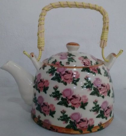 Chaleira de Porcelana Rosas 0,5 litro