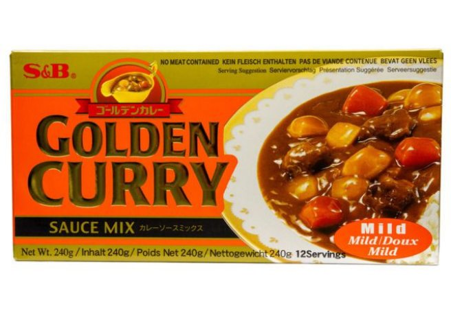 Curry em Tablete (Golden Curry Mild - Amakuti) S&B 220g