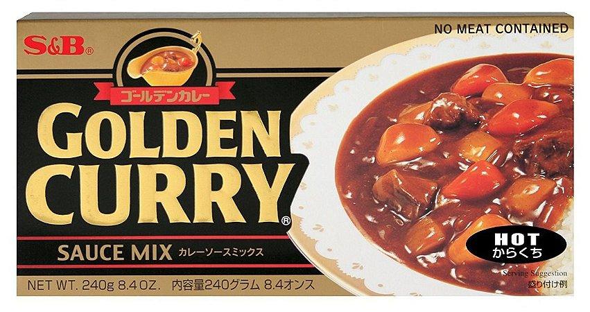 Curry em Tablete (Golden Curry Hot - Karakuchi) S&B 220 g