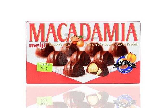 Chocolate com Macadâmia - Meiji 67 g
