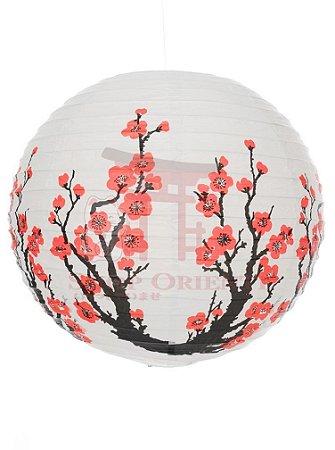Luminária Japonesa Redonda Sakura (GD) 40 cm