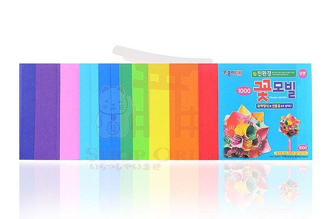Papel de Origami 7,5 x 7,5 - 80 folhas (AE10D203)