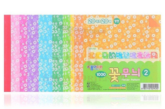 Papel de Origami 15 x 15 - 20 folhas (CD12Y4)