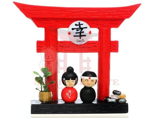 Portal Japonês (Tori) com Ideograma de Sorte