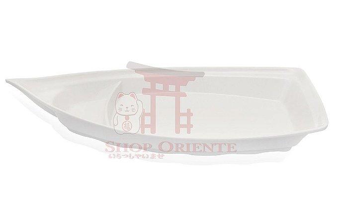 Barco Grande para Sushi e Sashimi Branco 41 cm