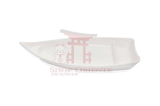 Barco Pequeno para Sushi e Sashimi 26 cm - Branco