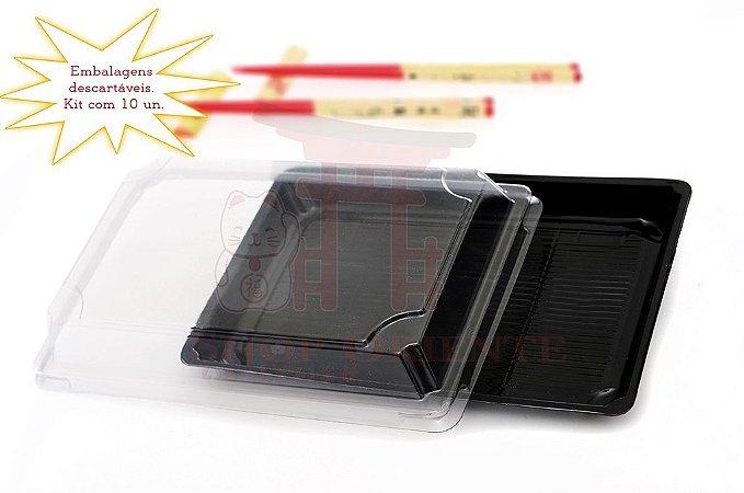 Embalagem Descartável para Sushi 25 cm x 17cm (10 unidades)