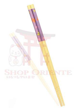 Hashi de Bambu LILAS FLORAL