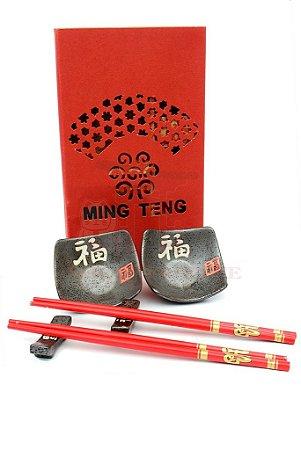 Kit Sushi 6 peças Ideograma Oriental